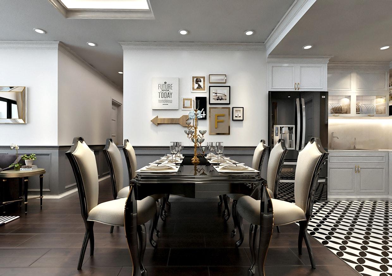 Phòng khách – Ăn - Bếp dự án sunshine riverside